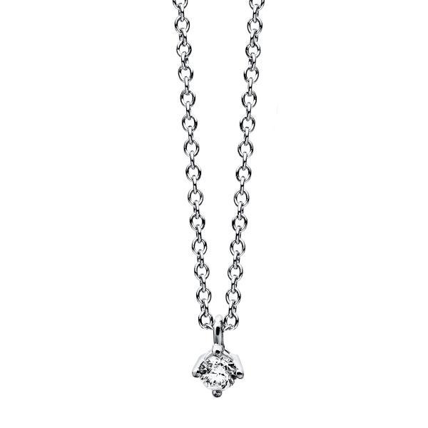 DiamondGroup Diamantcollier Collier 4er-Krappe 14 kt Weißgold - 4C771W4-2