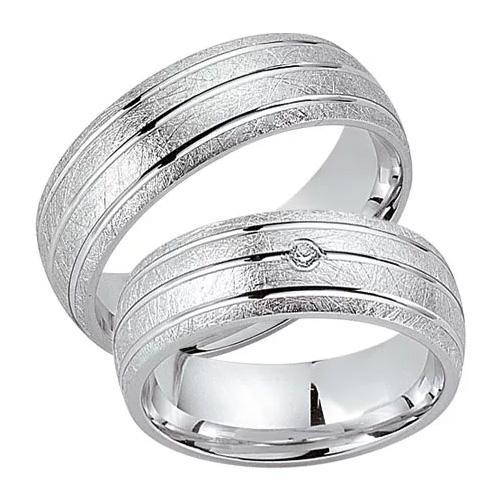 Schwarz Trauringe / Partnerringe Silber 925 Zirkonia SW925-029