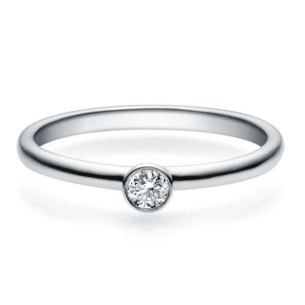 Rubin Verlobungsring 18019 Platin Solitär Ring 0.100 ct.