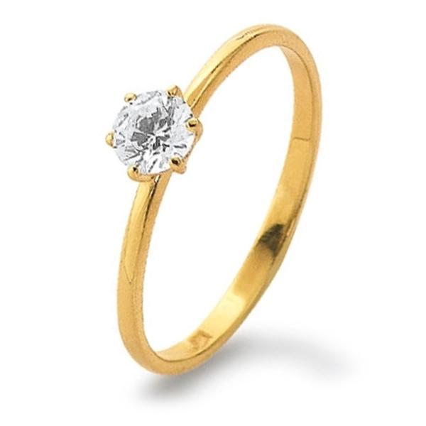 Ring Gelbgold 585 Zirkonia Palido K11245G