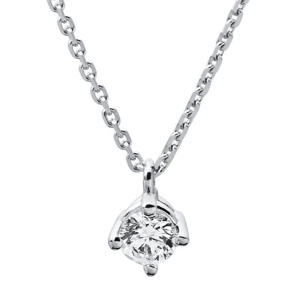 DiamondGroup Diamantcollier Collier 4er-Krappe 14 kt Weißgold - 4A309W4-2