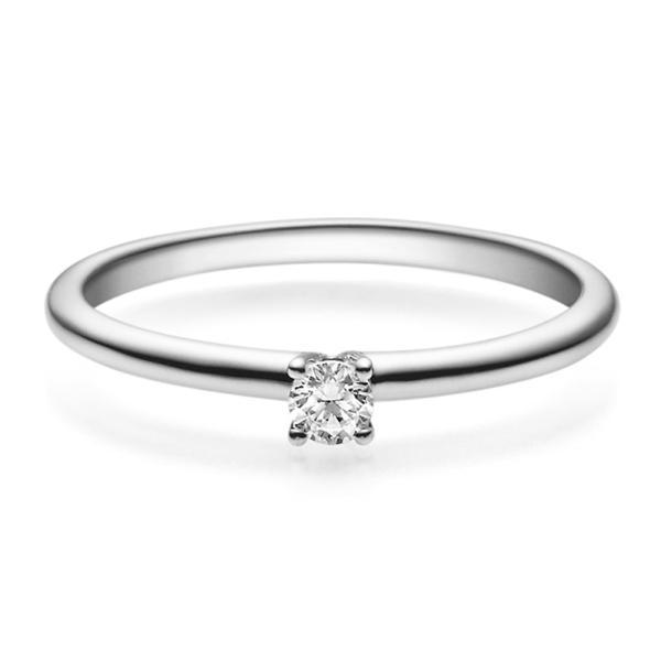 Rubin Verlobungsring 18018 Platin 950 Solitär Ring 0.100 ct.