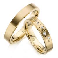 Rubin Trauringe 1635 Gelbgold Gold