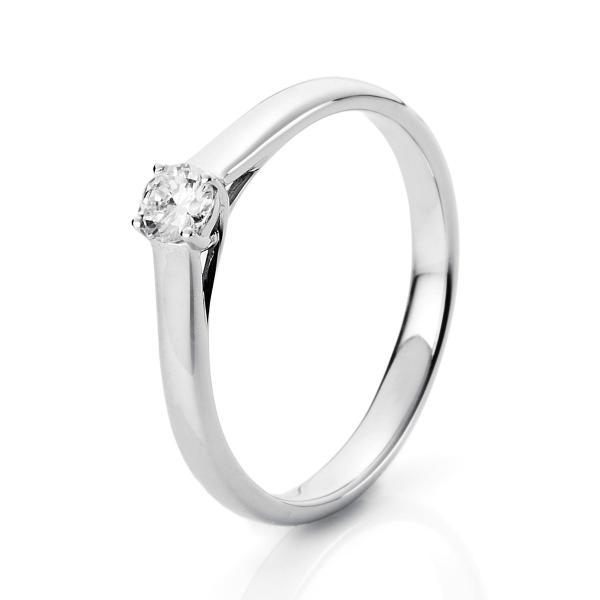 DiamondGroup Solitär Ring 4er-Krappe 18 kt Weißgold - 1A441W850-2