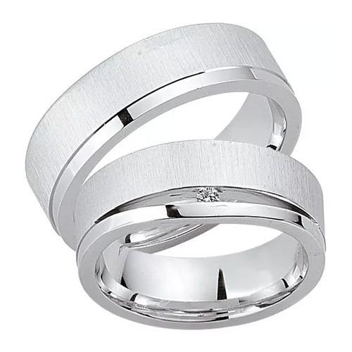 Schwarz Trauringe / Partnerringe 925-038D & 925-038H aus Silber 925
