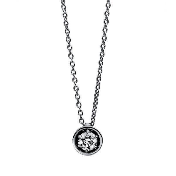DiamondGroup Diamantcollier Collier 6er-Krappe 18 kt Weißgold - 4E010W8-3