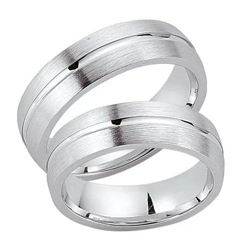 Schwarz Trauringe / Partnerringe Silber 925 SW925-024 Sterlingsilber feinmatt