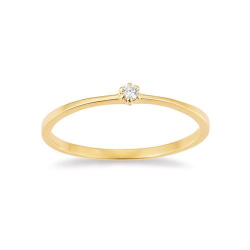 Palido First Love Ring Gelbgold Brillant Krappenfassung K10488G