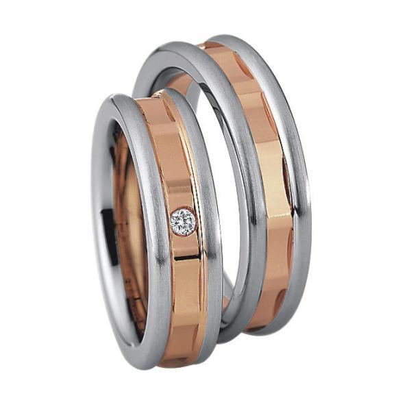 Saint Maurice Stahl-Gold-Ringe 49/88204 & 49/88205