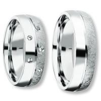 Freundschaftsringe Silber 925 Zirkonia Bedra 90053