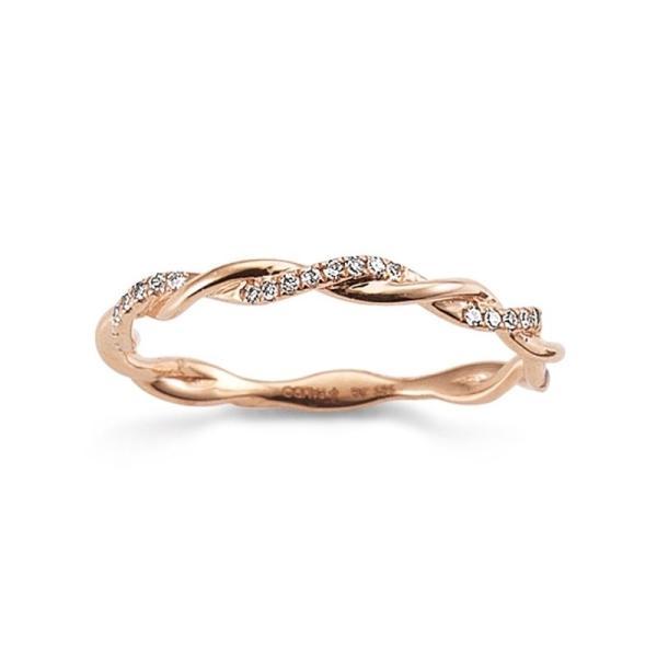 First Love Ring aus Rotgold 585 Brillant Palido K10971/R Kordelring