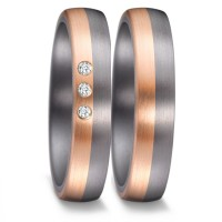 Partnerringe Tantal Roségold 585 Brillant TeNo 59642
