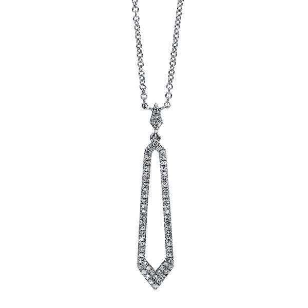 DiamondGroup Diamantcollier Collier 14 kt Weißgold - 4C401W4-1