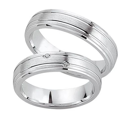 Schwarz Trauringe / Partnerringe 925-032D & 925-032H aus Silber 925